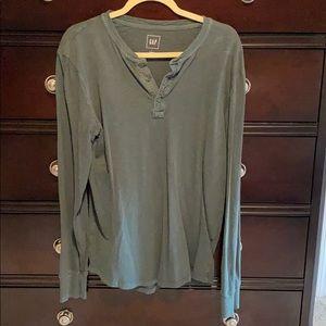 Gap Long Sleeve Henley Shirt (L)